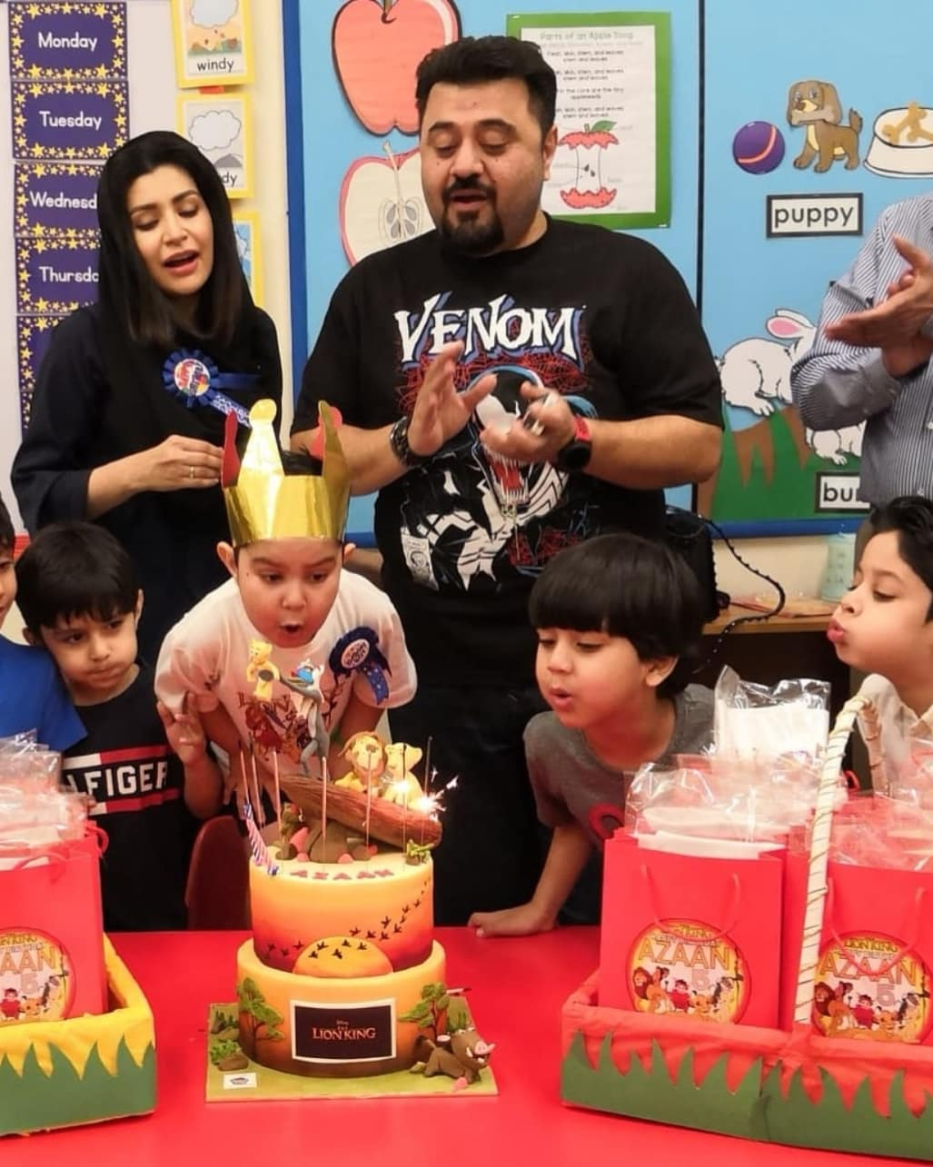 Pakistani Actor Ahmed Ali Butt Celebrate his Son Azaan Birthday Images (2)
