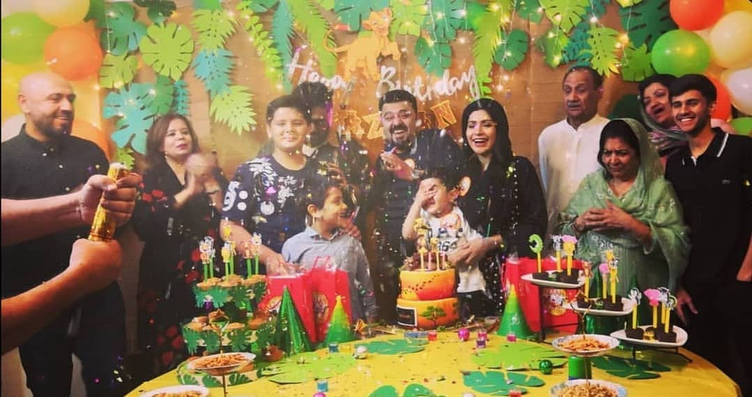 Pakistani Actor Ahmed Ali Butt Celebrate his Son Azaan Birthday Images (4)