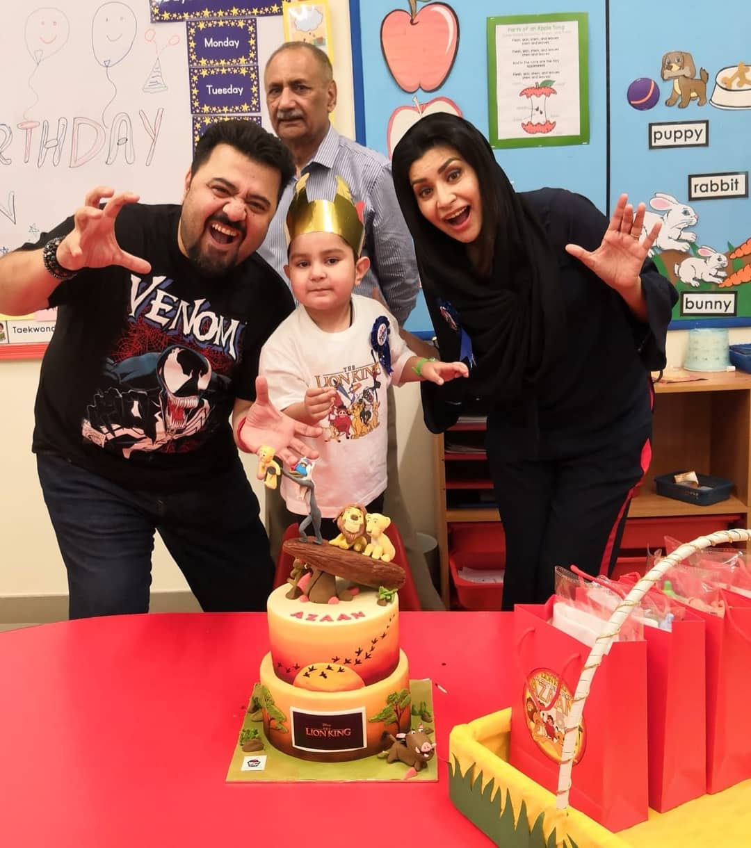 Pakistani Actor Ahmed Ali Butt Celebrate his Son Azaan Birthday Images (5)