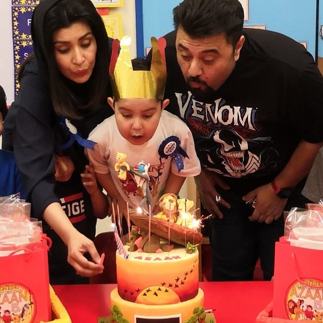 Pakistani Actor Ahmed Ali Butt Celebrate his Son Azaan Birthday Images (9)