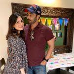Pakistani Actor Faisal Qureshi Celebrate His Wife Sana Faysal Birthday (12)