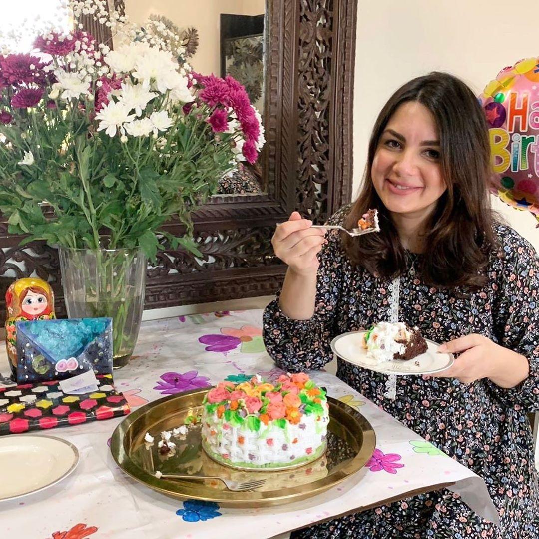 Pakistani Actor Faisal Qureshi Celebrate His Wife Sana Faysal Birthday (2)