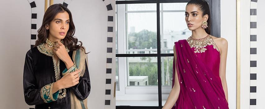 Sania Maskatiya Luxury Embroidered Dresses Collection Inara 2019 (1)