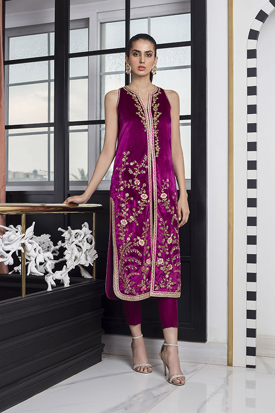 Sania Maskatiya Luxury Embroidered Dresses Collection Inara 2019 (14)