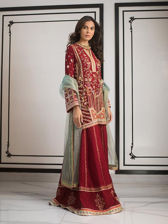Sania Maskatiya Luxury Embroidered Dresses Collection Inara 2019 (17)