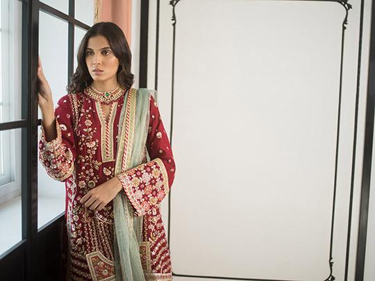 Sania Maskatiya Luxury Embroidered Dresses Collection Inara 2019 (18)