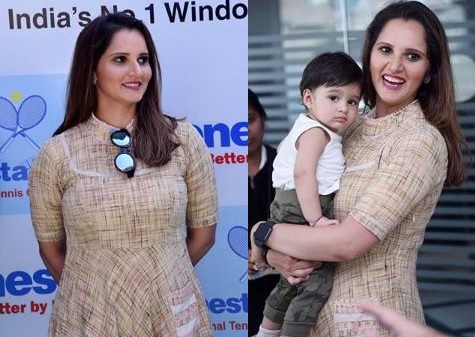 Sania Mirza Malik Latest Images With Her Daughter (1)