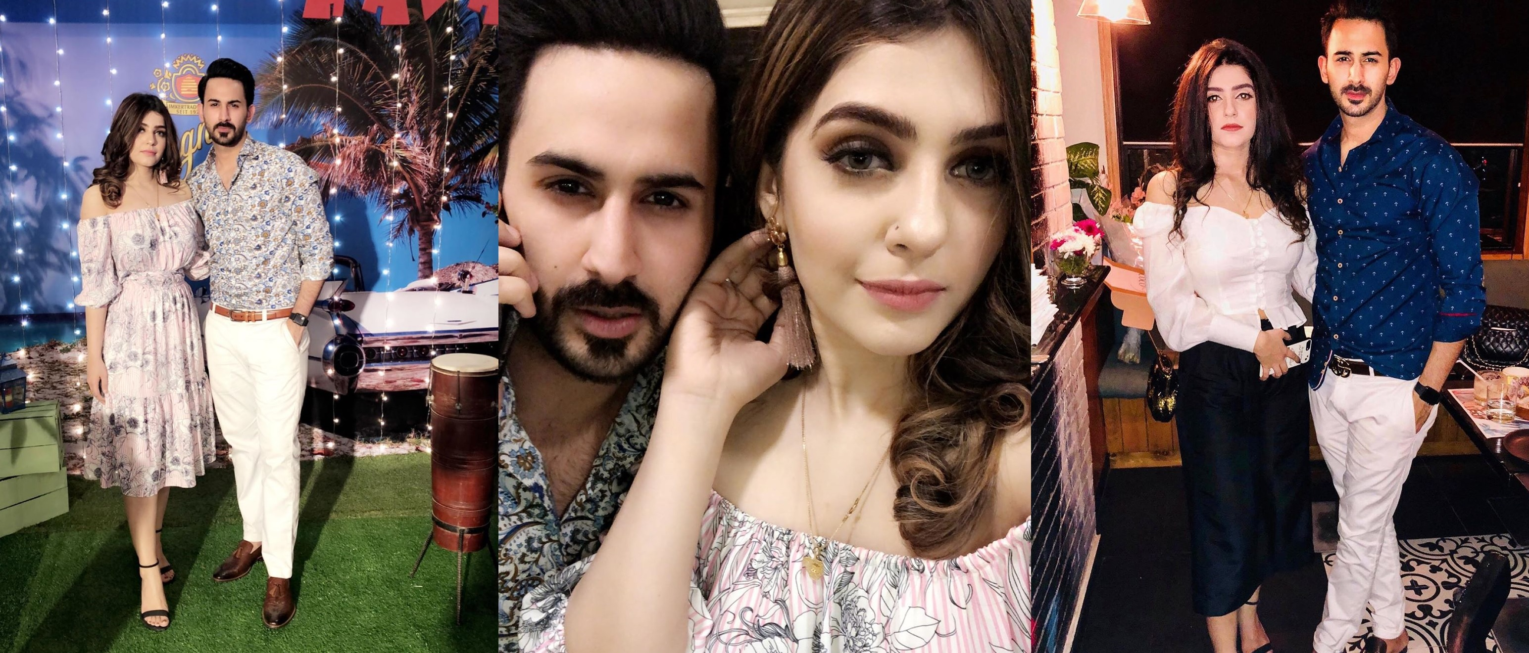 Shan Baig Pakistani Actor Images with Wife Michelle Shan (1)
