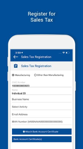 The updated FBR Asaan tax application now allows registration and unpaid returns (2)
