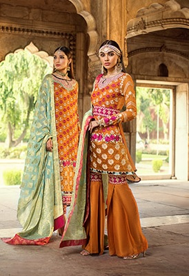 Zainab Chottani Embroidered Jamdani Collection 2019 (21)