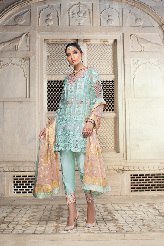 Zainab Chottani Embroidered Jamdani Collection 2019 (3)