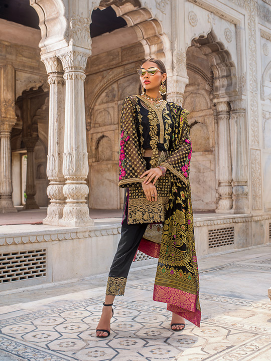 Zainab Chottani Embroidered Jamdani Collection 2019 (6)