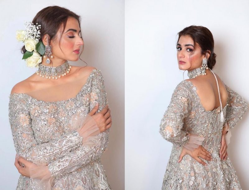 Actress Hira Mani Latest Beautiful Images in Embroider Dress 7