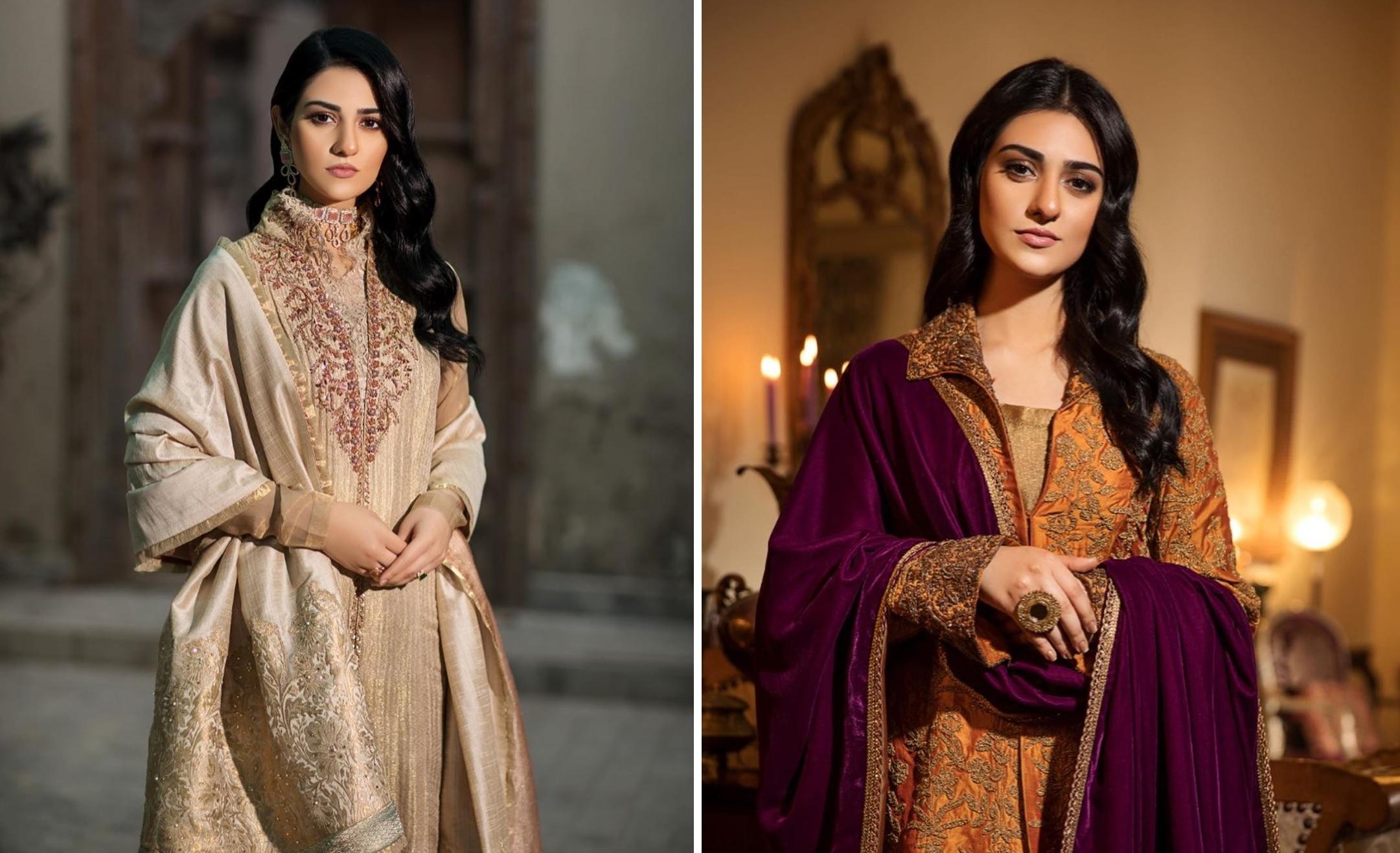 Actress Sarah Khan New Pictures for Nilofar Shahid (1)