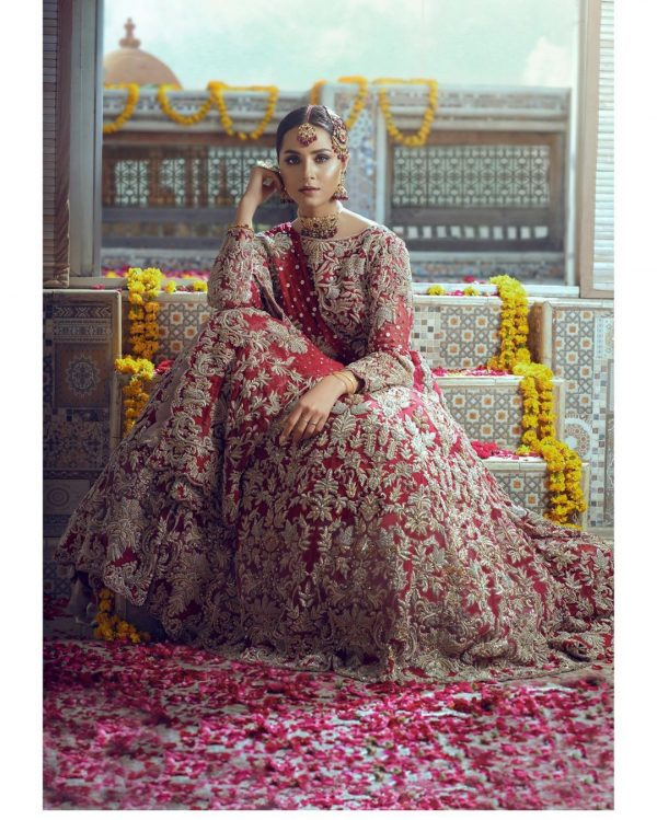 Anamta Couture Latest Bridal Photo Shoot of Actress Nimra Khan (2)
