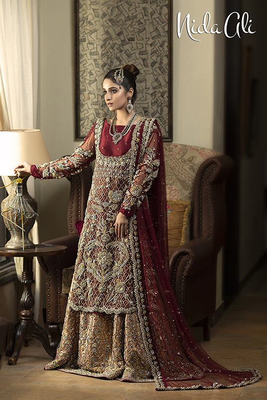 Dreamy Bridals Wear Collection 2019 By Nida Ali (13)