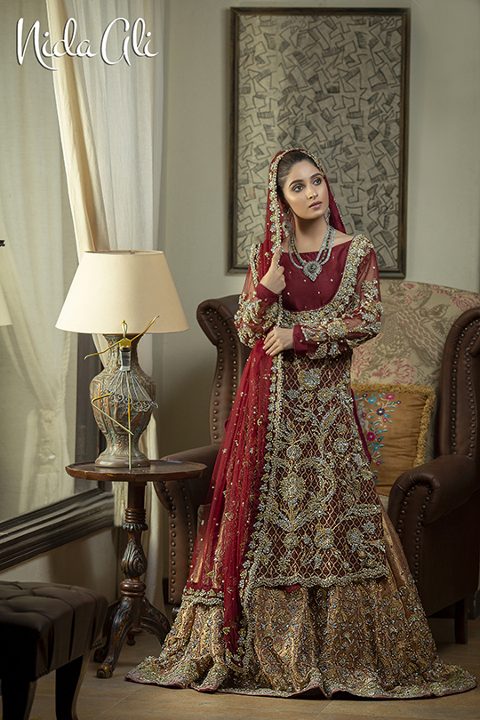 Dreamy Bridals Wear Collection 2019 By Nida Ali (22)