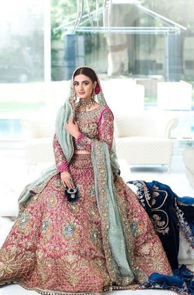 Hira Mani Pakistani Actress Bridal Photo Shoot for Nickie Nina (10)