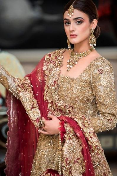 Hira Mani Pakistani Actress Bridal Photo Shoot for Nickie Nina (2)