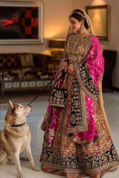 Hira Mani Pakistani Actress Bridal Photo Shoot for Nickie Nina (7)