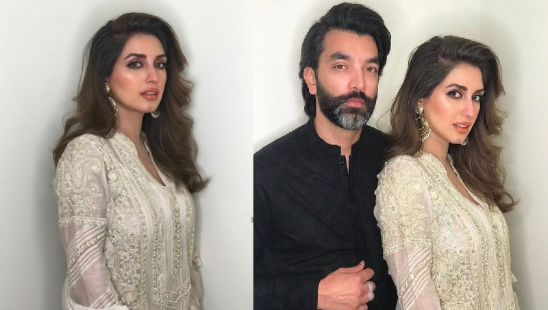 Iman Ali Famous Pakistani Actress Pictures with her Husband (1)