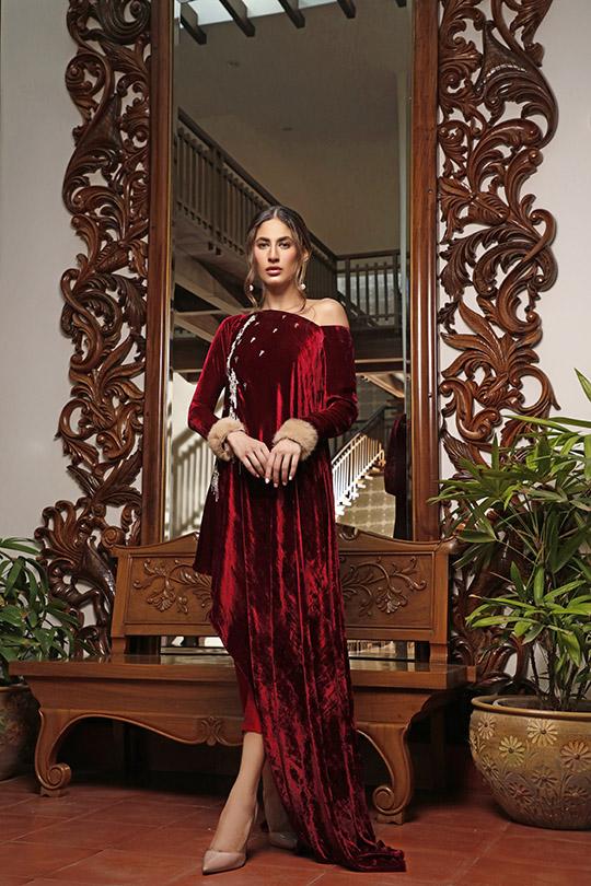 La Amour Winter Wear Collection 2019-20 By Rozina Munib (12)