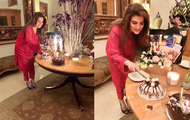 Resham Pakistani Actress Celebrate Birthday Party with Friends (1)