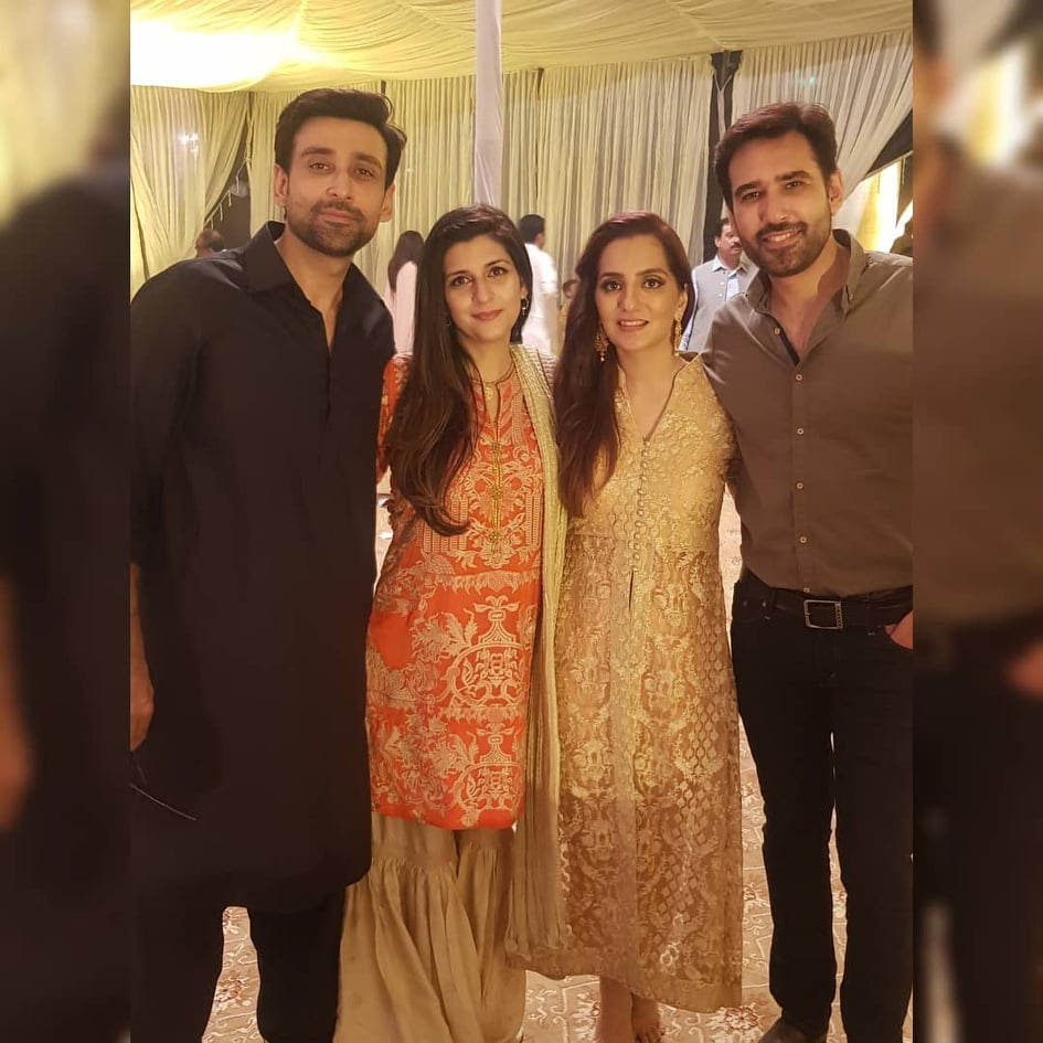 Sami Khan And His Wife Images at a Family Wedding (5)