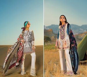 Sana Safinaz Winter Shawl Collection Looks 2019-20 (1)