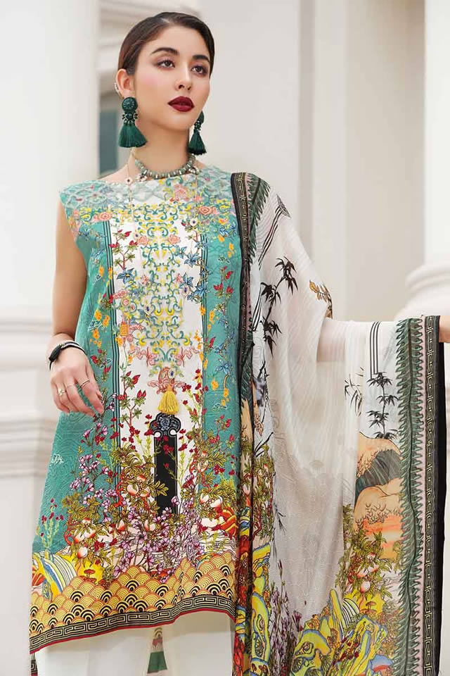 LAMIS Digital Charmeuse Silk Dresses Collection 2020 By Gul Ahmed (12)