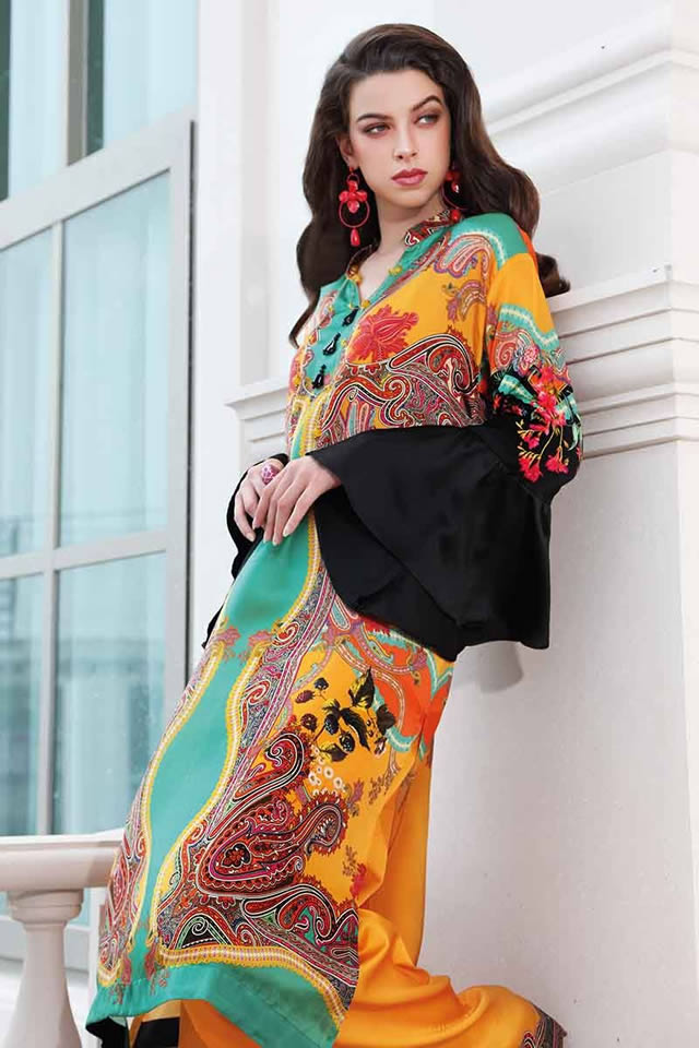 LAMIS Digital Charmeuse Silk Dresses Collection 2020 By Gul Ahmed (13)