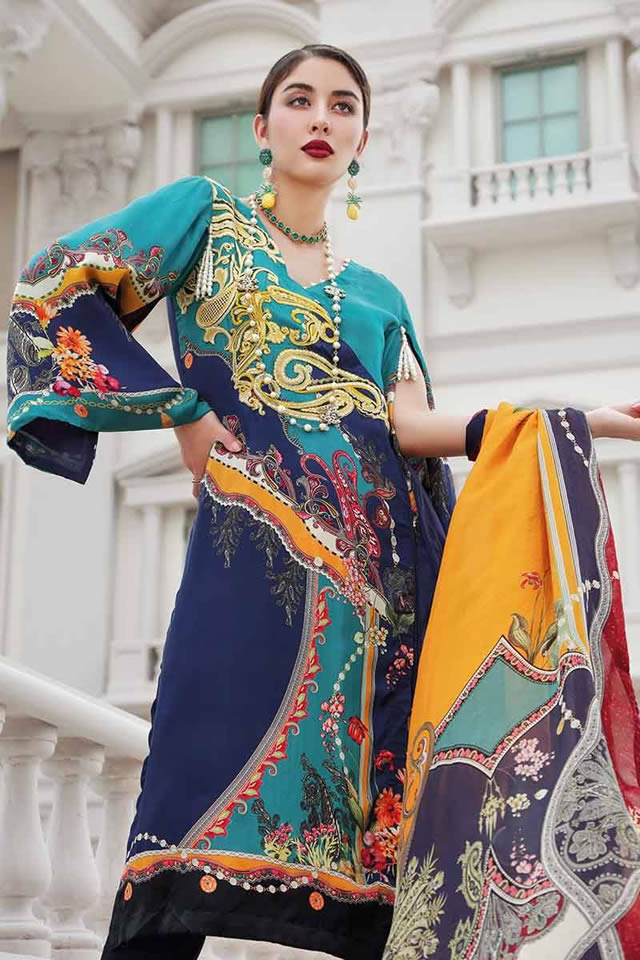 LAMIS Digital Charmeuse Silk Dresses Collection 2020 By Gul Ahmed (14)
