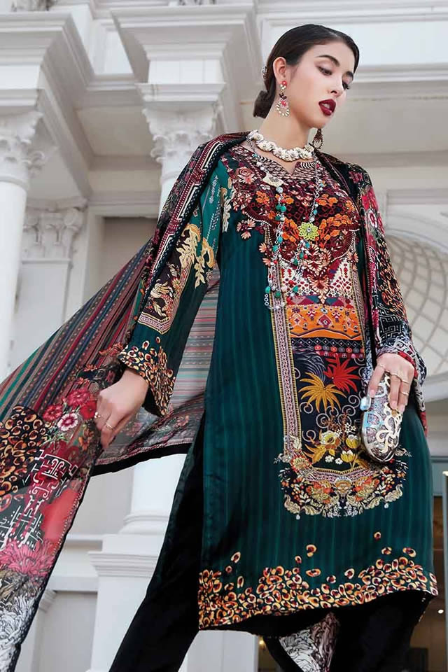 LAMIS Digital Charmeuse Silk Dresses Collection 2020 By Gul Ahmed (15)