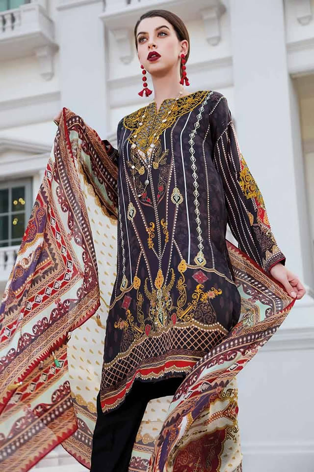 LAMIS Digital Charmeuse Silk Dresses Collection 2020 By Gul Ahmed (16)