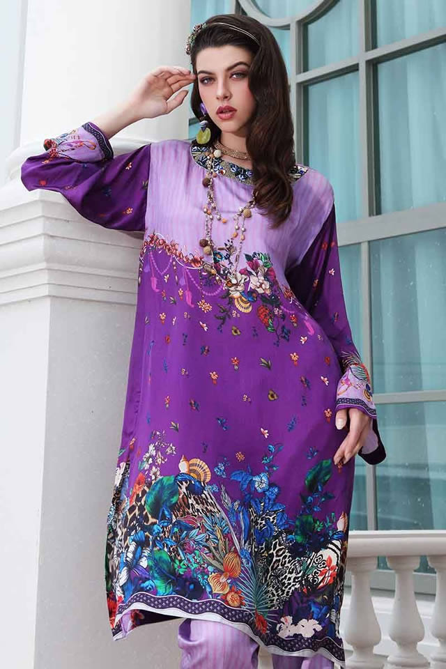 LAMIS Digital Charmeuse Silk Dresses Collection 2020 By Gul Ahmed (3)