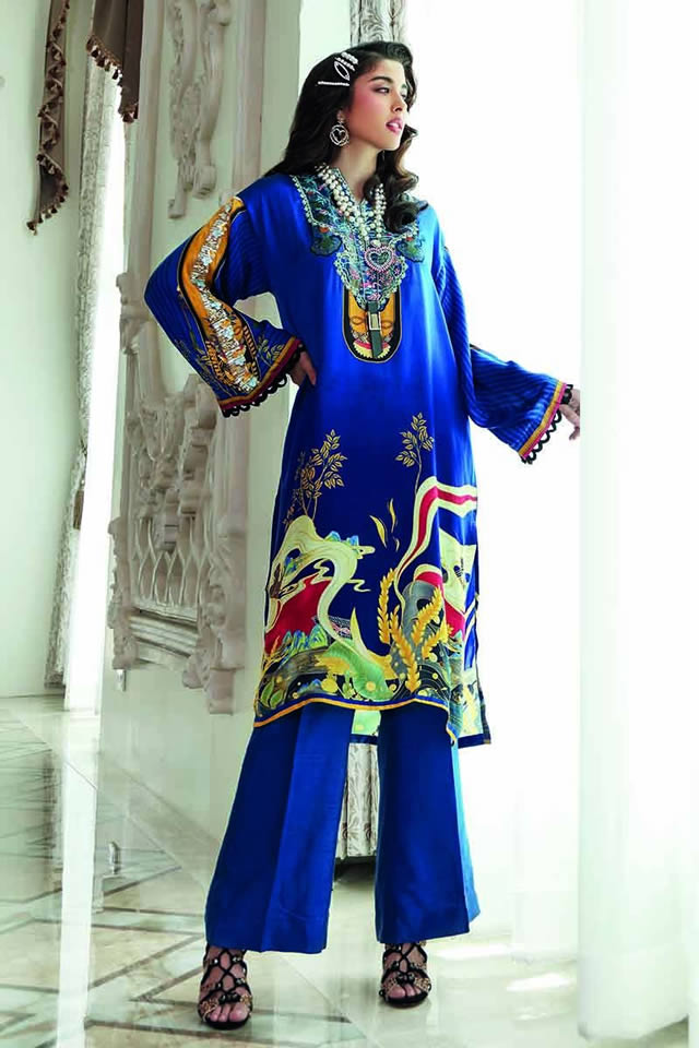 LAMIS Digital Charmeuse Silk Dresses Collection 2020 By Gul Ahmed (6)