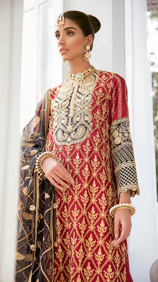 Luxury Dresses Designs Looks By Cross Stitch (2)