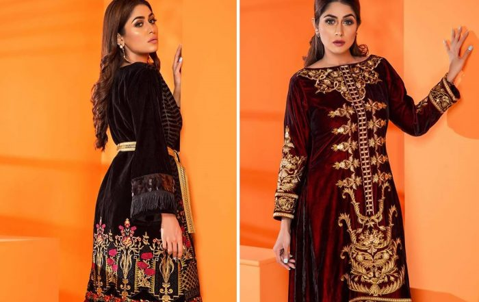 Velvet Embroidered Winter Wear Collection 2019-20 By Al-Zohaib (1)