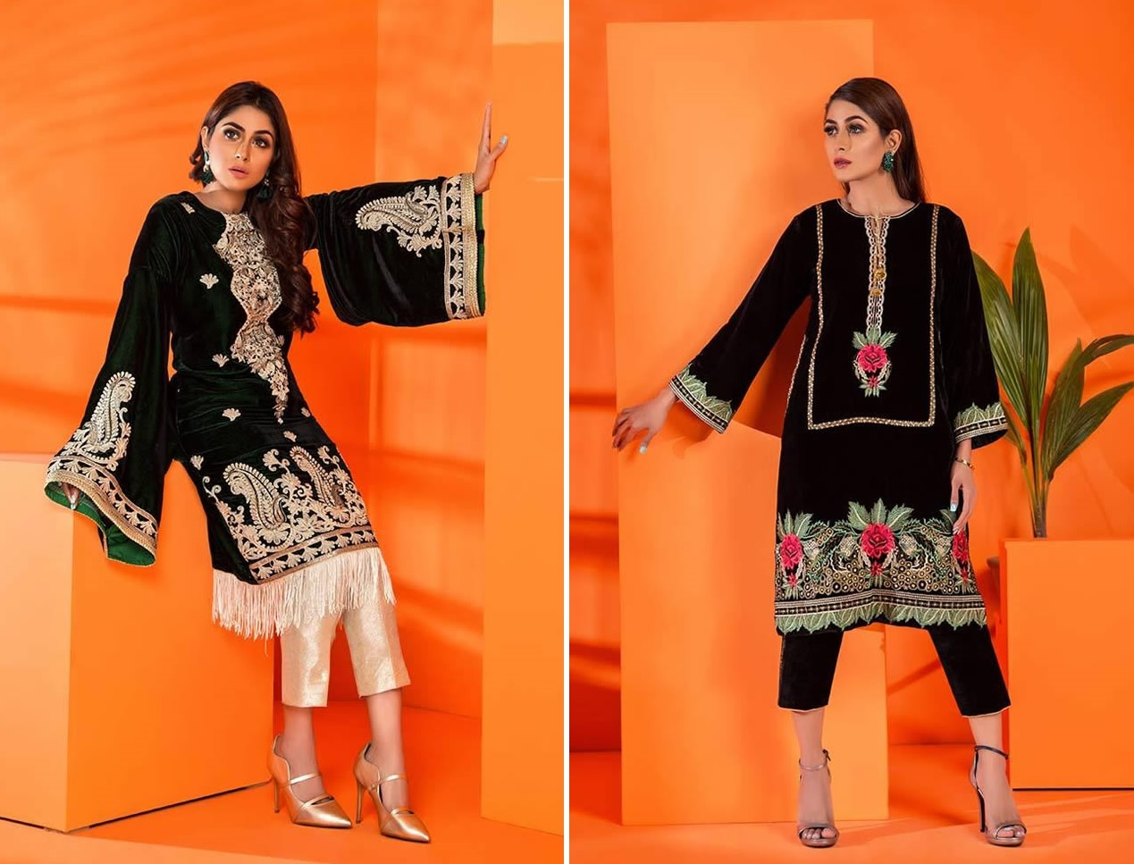 Velvet Embroidered Winter Wear Collection 2019-20 By Al-Zohaib (16)