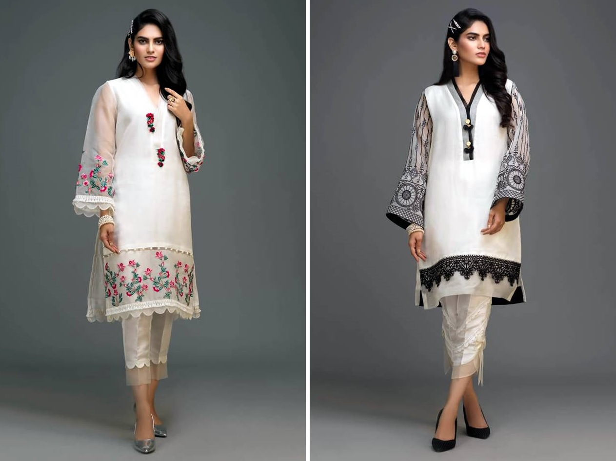 Zaaviay's All White Silk Organza Winter Collection 2019-20 (1)