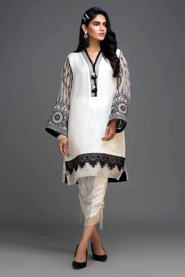 Zaaviay's All White Silk Organza Winter Collection 2019-20 (3)