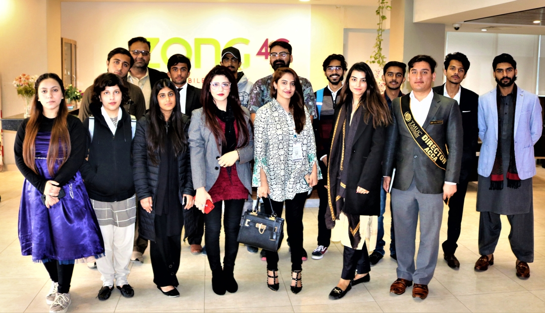 Zong 4G Educates TMUC Students on Their Visit to the Headquarters (1)
