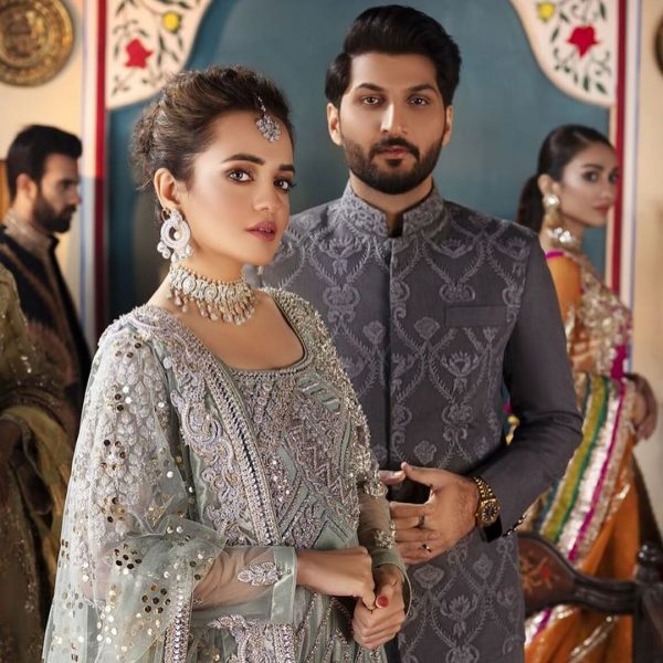 Bilal Saeed Sumbul Iqbal Bride and Groom Photo Shoot For a Fashion Brand (1)
