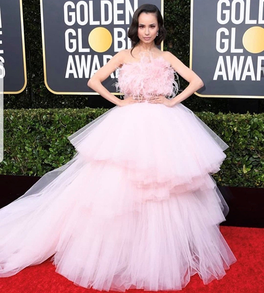 Golden Globe seems to set fire to the red carpet (3)