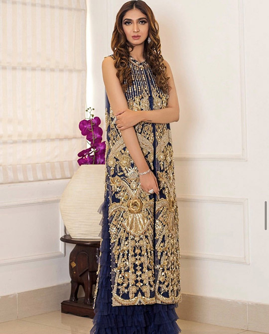 Six Bridal Trendy Formal Wear Designs 2020 By Shiza Hassan (8)