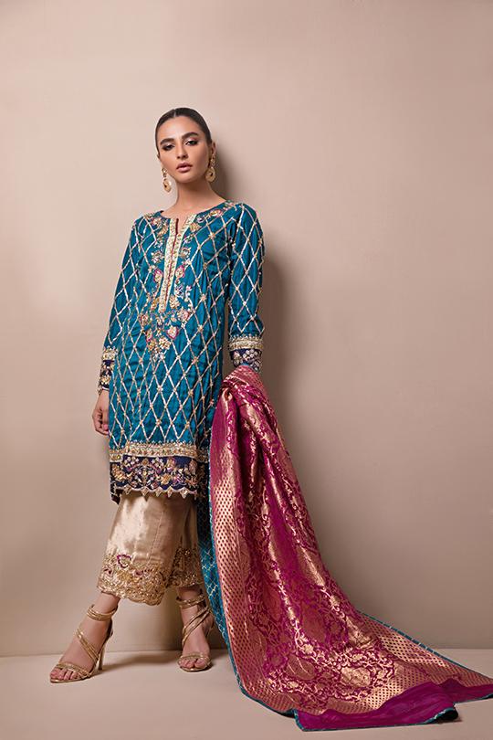 Women's Sylk Dresses Collection 2020 by Sana Abbas (11)