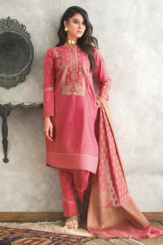 Jacquard Fabric Summer Collection 2020 By Gul Ahmed (3)