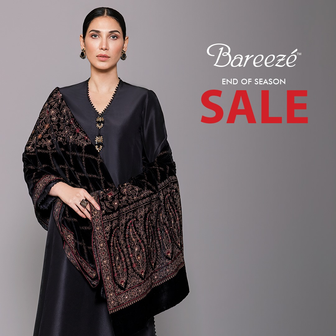 Bareeze end of season Fully embroidered Winter Collection 2021 (12)