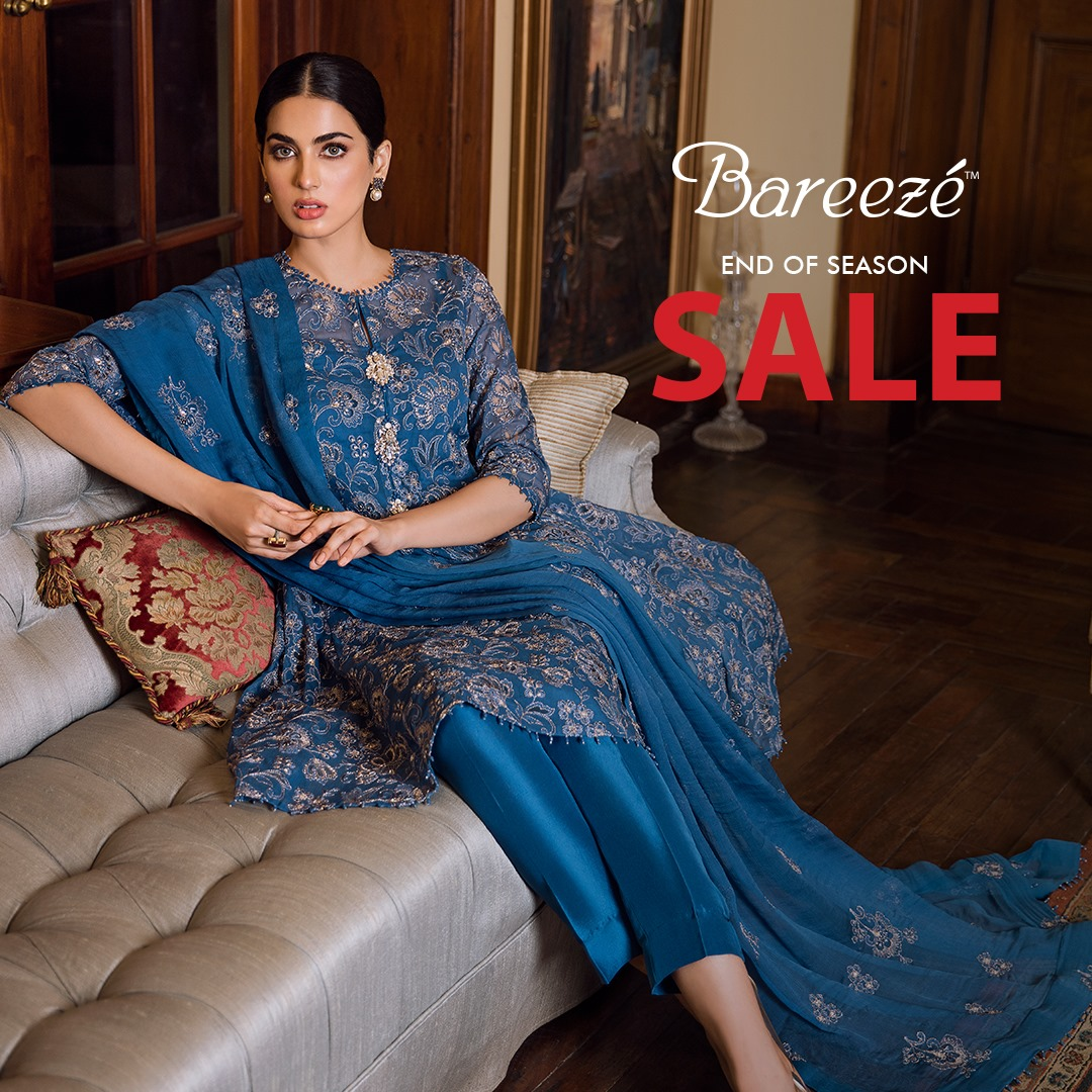 Bareeze end of season Fully embroidered Winter Collection 2021 (15)