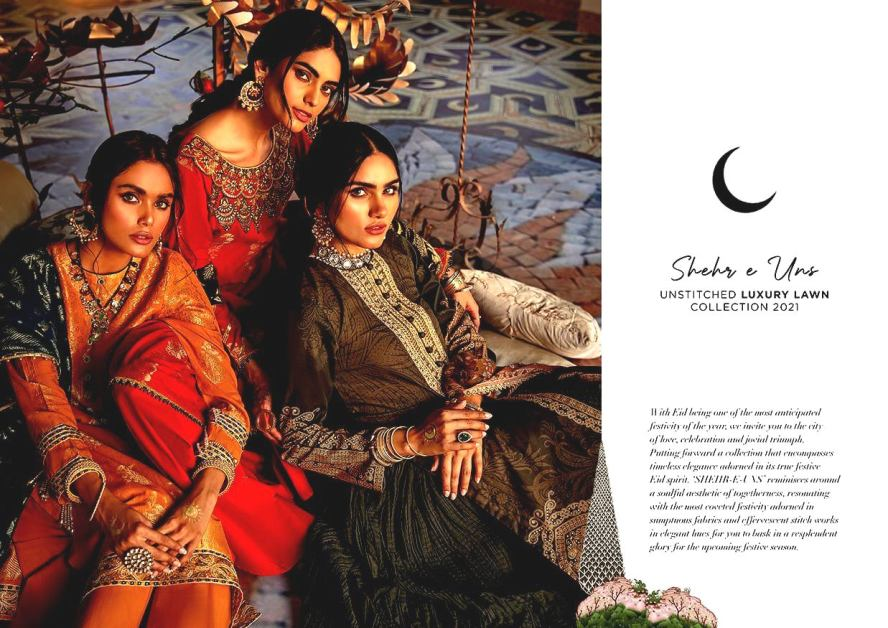 Shehr-e-Uns Unstitched Eid Dresses Collection 2021 By Cross Stitch (19)